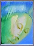 Maria nach van Eyck. Aquarell, 76x57, 2010