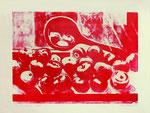 Äpfel und Spiegel. Lithogr., 45x60, 1973