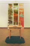 Erde als Grund-u. Mittelpunkt. Installation, 2 Teile, 1991