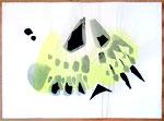 Schmetterlingsflügel. Aquarell-Collage, 78,5x106,5, 1994