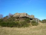 der erste Bunker, von der Straße aus sichtbar
