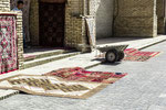 If the sale room is rebuilt, the carpets are displayed on the street