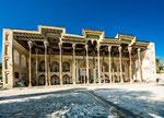Bolo-Hauz Mosque (children's pool)  is the only surviving monument in Registan Square