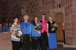 Karin Kolb dankt den Verantwortlichen des Schubertchores und der Solistin Franziska Mück für ihre hervorragenden Darbietungen.