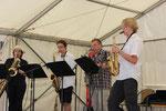 """Das Saxophon-Quartett """"Lazy Tongues"""" von der Emerich-Smola-Musikschule Kaiserslautern"""