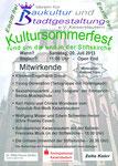 Das Ankündigunsplakat des Kultursommerfestes