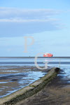 rotes Containerschiff