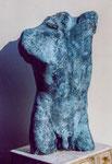 Torse masculin (Plâtre patiné) Höhe 75 cm, 1997
