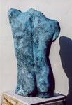 Torse masculin (Plâtre patiné) 75 cm, 1997