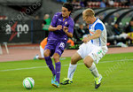 Alberto Aquilani (L,Fiorentina) gegen Stephane Grichting (GCZ)