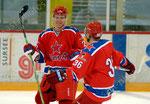 Nikita Zaitsev (L,ZSKA) Torschuetze zum 1:0 fuer ZSKA und Iakov Rylov (ZSKA)