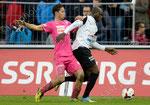 Igor Nganga (r,Aarau) gegen Nassim Ben Khalifa (GCZ)