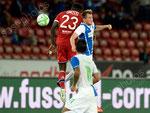 Samuel Umtiti (L,Lyon) gegen Izet Hajrovic (GCZ)