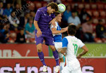 Marcos Alonso (L,Fiorentina) gegen Michael Lang (GCZ) und Frank Feltscher (vorne,GCZ)