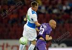 Izet Hajrovic (L,GCZ) gegen Borja Valero (Fiorentina)