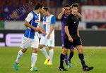 Veroljub Salatic (L,GCZ) Alberto Aquilani (Fiorentina) und Schiedsrichter Jug Matej