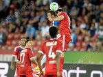 Shkelzen Gashi (L,GCZ) gegen Milan Bisevic (Lyon)