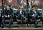Trainer Staff mit Trainer Vincenzo Montella (M,Fiorentina)