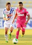 Johan Vonlanthen (GCZ) gegen Miha Mevlja (L,Lausanne)