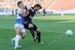 Nassim Ben Khalifa (L,GCZ) gegen Juan Pablo Garat (Aarau)
