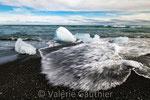 Plage de Jökulsárlón (Islande)