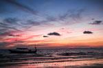 Coucher de soleil sur Otres Beach (Cambodge)