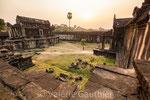 Temple d'Angkor Vat au coucher du soleil (Cambodge)