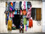 Echoppe dans les rues de Latacunga (Equateur)