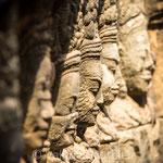Terrasse du Roi Lépreux, temple du Bayon à Angkor (Cambodge)