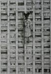 La inocencia en Albergue Warnes -  2016 Grafito 42 x 60 cm