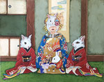 Japanese Bunny girl-yu-jo and kamuro-Ⅲ 72.7×91cm 2018