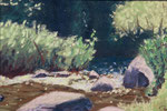 Noon in the Park   Pastel Painting - sold