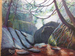 Cave Alley- Pastel Painting , 16 x21, 2012: $650.