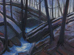 "Last of Winter - Pastel Painting, 14""x18"" 2011: $500."