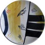 majolika auf keramik, dm. 45cm