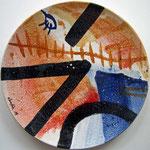 majolika auf keramik, dm. 32cm