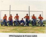 MBCPL champion de France Cadets 1991