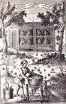 """In primo piano è rappresentata la """"castrazione"""" o """"decimazione"""" dell'arnia, così veniva chiamata l'operazione che permetteva di ricavare miele e cera senza uccidere le api. Il lavoro veniva compiuto due volte all'anno, dopo i maggiori raccolti.  Il person"""