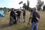 das Filmteam bei dewr Arbeit