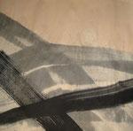 Tinta da china e acrílico sobre papel jornal 74 cm x 100 cm