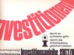 Entwurf Investitionsanleihe 1967.