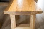 Sitzbank aus Esche Massivholz