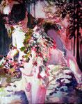 Faun    120 x 100 cm  Acryl auf Malgrund  2011