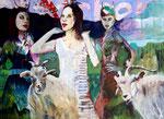 Wollust  Acryl auf Malgrund   120 x 150 cm   2011