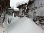 Nach einem heftigen Schneesturm