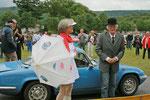 """""""La"""" Lotus bleu(e) à l'arrivée du Creuskistan Classic 2014. Avec un temps so british..."""
