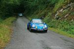 L'Alpine Renault A110 1600 SX de Jean-Pierre Jabouille sort du bois...