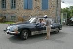 """Un phénomène vu au Creusekistan, Roger Collet et sa Citroën DS 21 """"Lorraine"""" Carrosserie Chapron."""