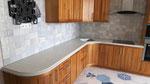 Кухонная столешница из кварцевого агломерата от компании Цезарьстоне. Мойка подстольного монтажа.