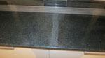 Большая кухонная столешница с подоконниками из натурального гранита Сезам Блек (Китай)